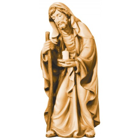 St. Joseph - Male saint - wood carving - stained 3 col.