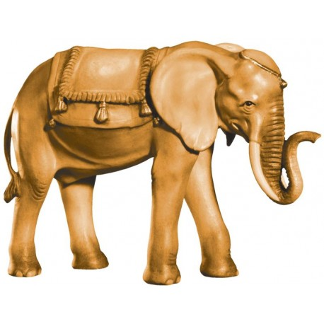 Elephant carved in wood - stained 3 col.