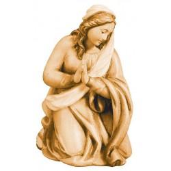 Maria aus Ahornholz geschnitzt, diese Holzfigur zählt zu den wichtigsten Grödner Holzschnitzereien - Brauntöne lasiert