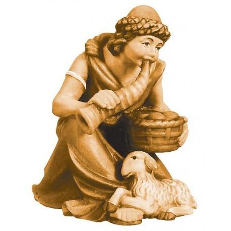 Kneeling Shepherd with Basket