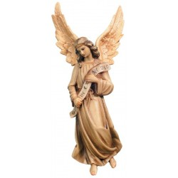 Gloria Angel carved in maple wood  - Wood colored in Different brown shades