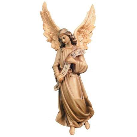 Gloria Angel carved in maple wood  - Dolfi Hand carved Nativity Figures - Made in Italy - oil colors