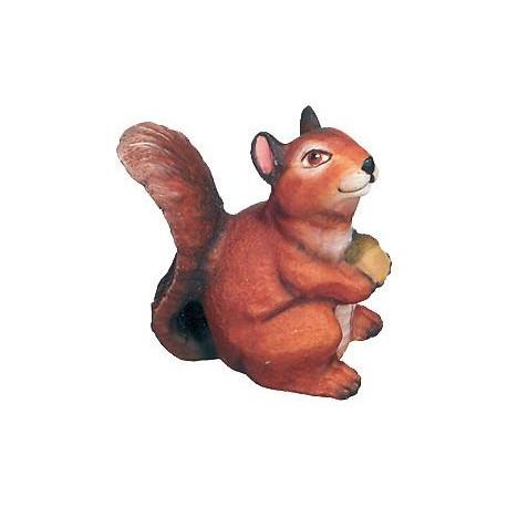 Sagoma scoiattolo in legno - colorato a olio