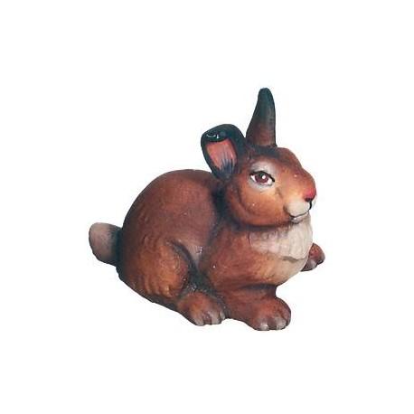 Coniglio di legno - colorato a olio