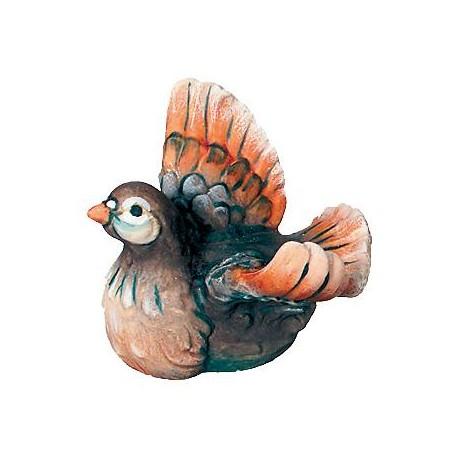 La colomba in legno - colorato a olio