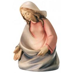 Maria aus Ahornholz geschnitzt, diese Holzschnitzerei ist eine wichtige Südtiroler Holzfigur - Ölfarben lasiert