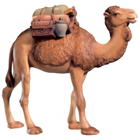 Camel with Saddle carved in wood the size of the animal is in Proportion to the size of the Figures - oil colors