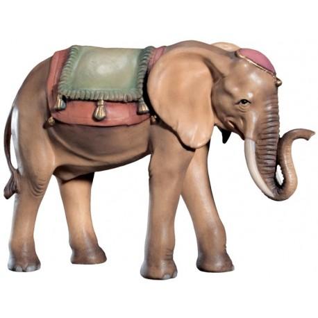 Elefante per presepe scolpito in legno - colorato a olio