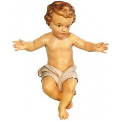 Bambinello Gesù per Presepe scolpito in legno pregiato
