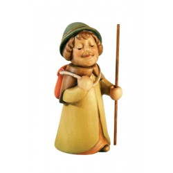 Childlike Shepherd with Sack wood carved