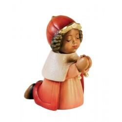 König Mohr, ist eine echte Dolfi Holzschnitzerei, die zu den edlen Südtiroler Holzfiguren zählt