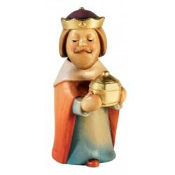 Kniender König aus Ahornholz geschnitzt, diese Holzschnitzerei ist eine edle Südtiroler Holzfigur