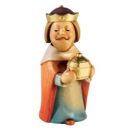 Kneeling Wise Man Balthazar wood carved