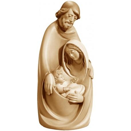 Sacra Famiglia stilizzata in legno - brunito 3 col.