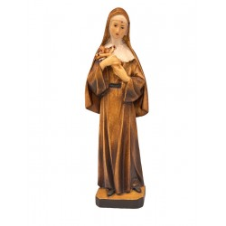 Saint Rita - Wood colored in Different brown shades