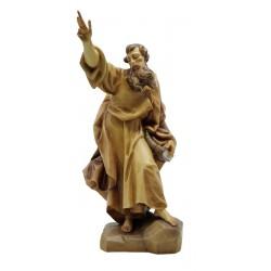 Heiliger Paulus aus Holz - mehrfach gebeizt