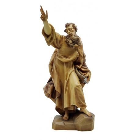 Heiliger Paulus - Holz in verschiedenen Brauntönen lasiert