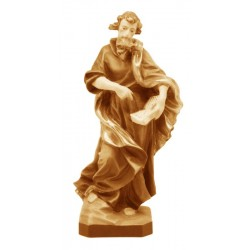 Saint Matthew with book and sword - Wood colored in Different brown shades