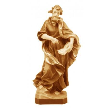 Heiliger Mattheus mit Buch und Schwert - Holz in verschiedenen Brauntönen lasiert