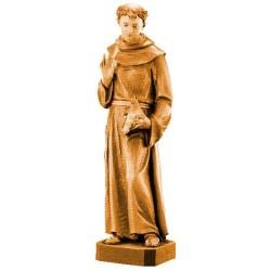 Heiliger Franziskus aus Holz - mehrfach gebeizt