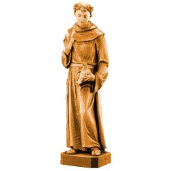 Saint Francis of Assisi - Dolfi Wooden Hand Sculpture - Made in Italy - Different brown shades
