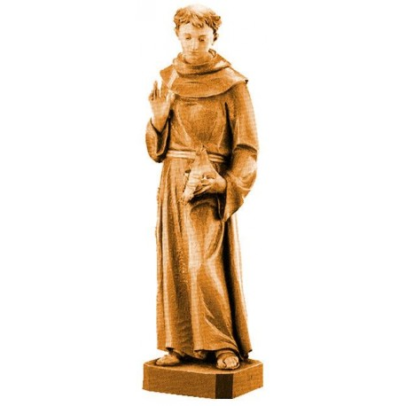 St. Francis - Wood colored in Different brown shades