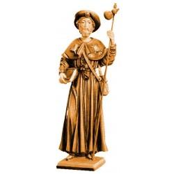San Giacomo protettore dei pellegrini - legno colorato in diverse tonalitá di marrone