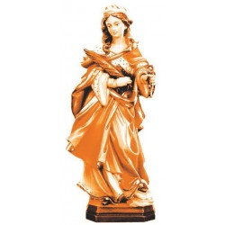 Saint Apollonia of Alexandria - Dolfi Wooden Sculpture Statues - Made in Italy - oil colors