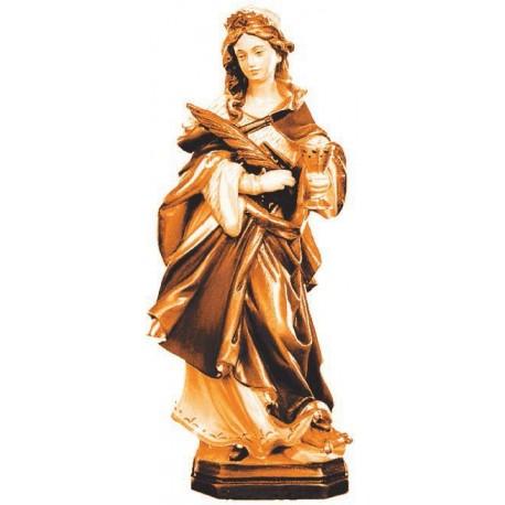 Heilige Ottilie Schutzpatronin der Blinden aus Holz - mehrfach gebeizt