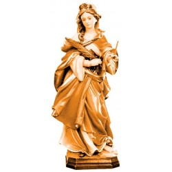 Saint Ursula in Art and Legend - Dolfi Large Wooden Sculptures for Sale - Made in Italy - Different brown shades