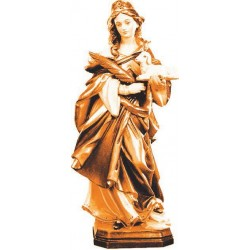 St. Agnes of Rome - Dolfi Famous wood Sculptures - Made in Italy - oil colors