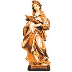 Santa Dorotea scolpita con cesta