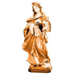 Santa Veronica ritratta con fiori