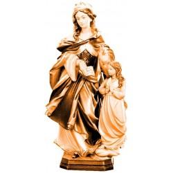 Heilige Mutter Anna in Holz geschnitzt - mehrfach gebeizt