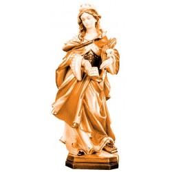 Santa Cristina scolpita in legno nobile - legno colorato in diverse tonalitá di marrone