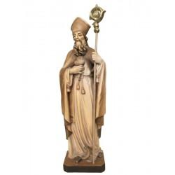 S. Benedetto scolpito in legno e dipinto a mano