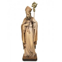 Saint Patrick wood carved statue - stained 3 col.