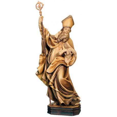 San Ambrogio ritratto con libro e cesto in legno - brunito 3 col.
