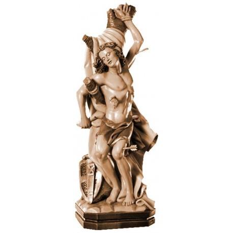 San Sebastiano elegantemente scolpito in legno