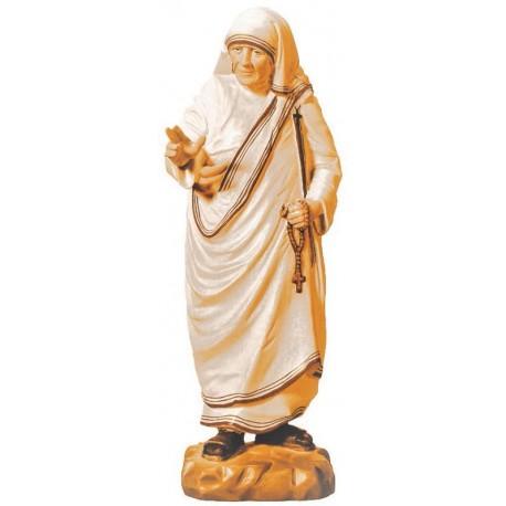 Statua Madre Teresa di Calcutta di legno - brunito 3 col.