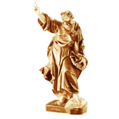 San Pietro scolpito in legno con chiavi - brunito 3 col.