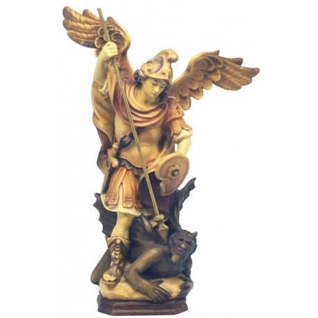 Saint Michael Archangel - Wood colored in Different brown shades