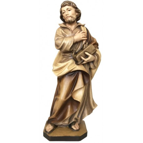 Saint Joseph the Worker with Planer wood carved statue - stained 3 col.