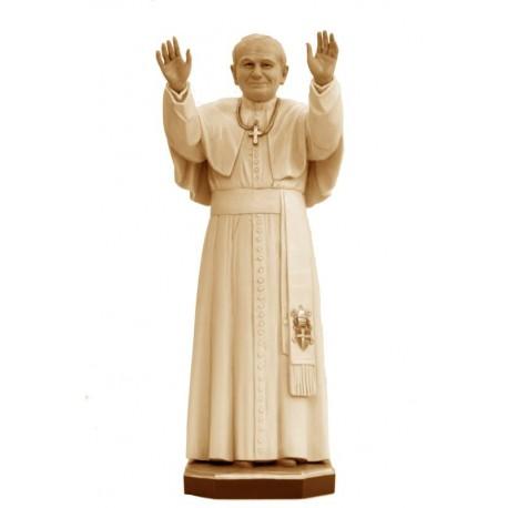 Papa Giovanni Paolo II di legno - brunito 3 col.