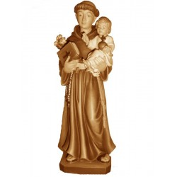 San Antonio di Padova finemente scolpito in legno