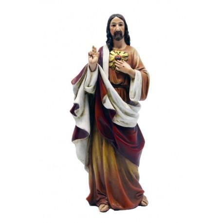 Heiligster Herz Jesus Statue aus Kunststoff
