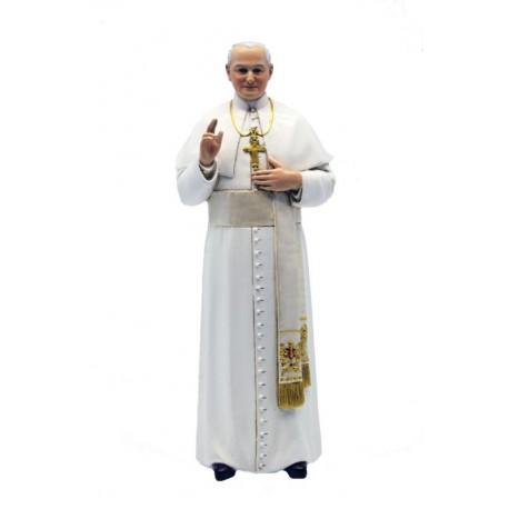 Pope John Paul II in paste of wood