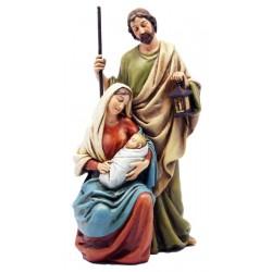Heilige Familie aus Holzmasse - Leicht mit Ölfarben lasiert