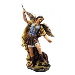 San Michele Arcangelo diavolo sacra in resina di legno