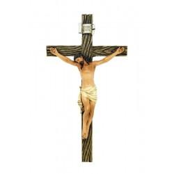 Crocifisso realizzato in pasta di legno